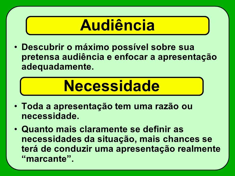 Audiência Necessidade