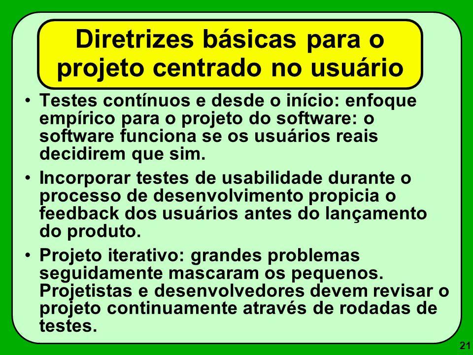Diretrizes básicas para o projeto centrado no usuário