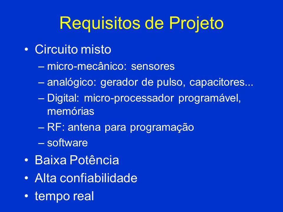 Requisitos de Projeto Circuito misto Baixa Potência