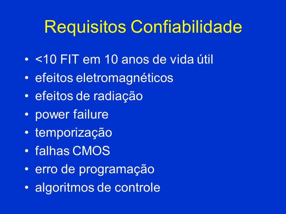 Requisitos Confiabilidade
