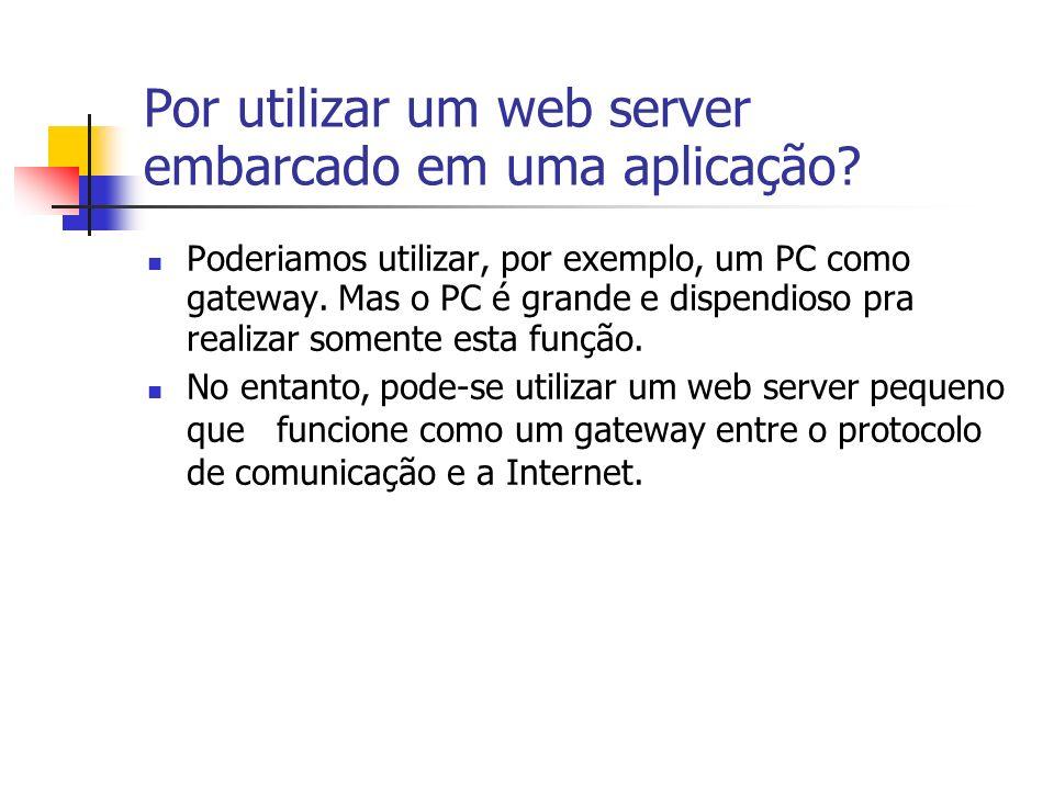 Por utilizar um web server embarcado em uma aplicação