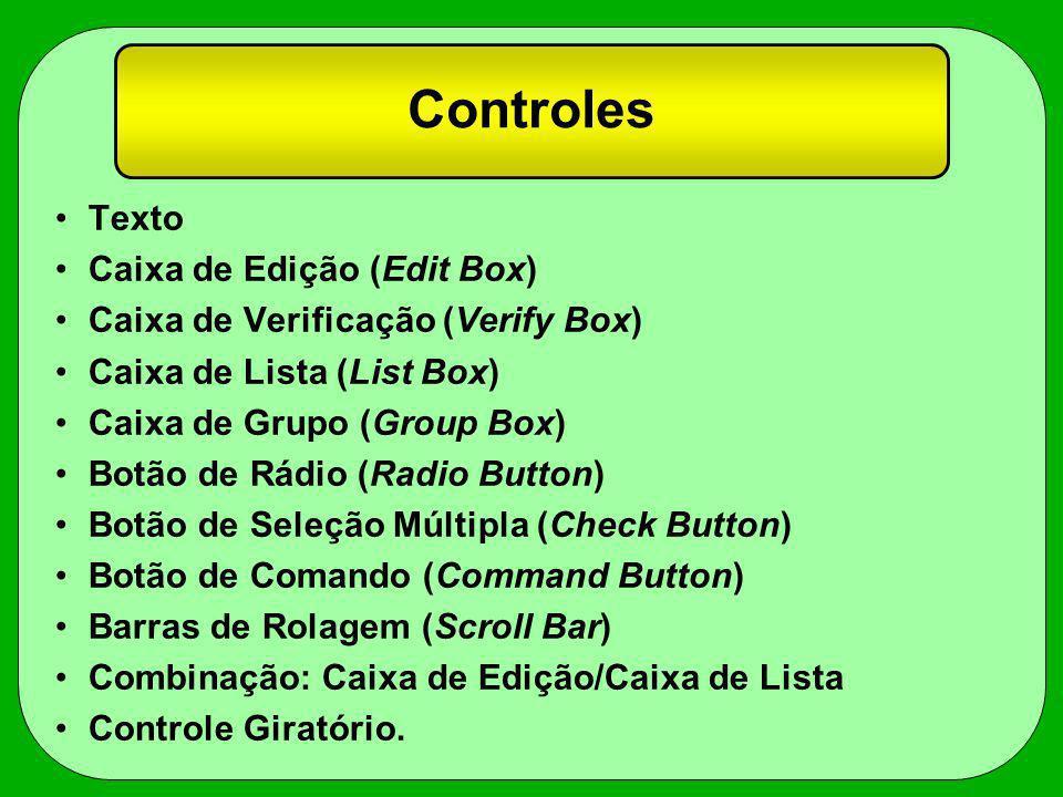 Controles Texto Caixa de Edição (Edit Box)
