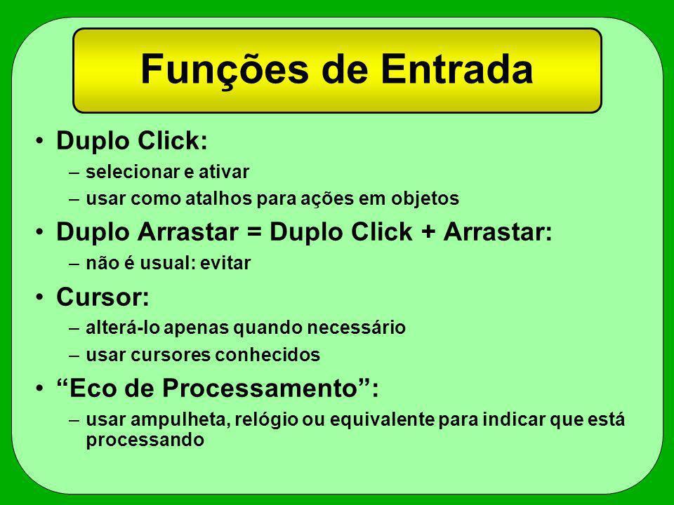 Funções de Entrada Duplo Click: