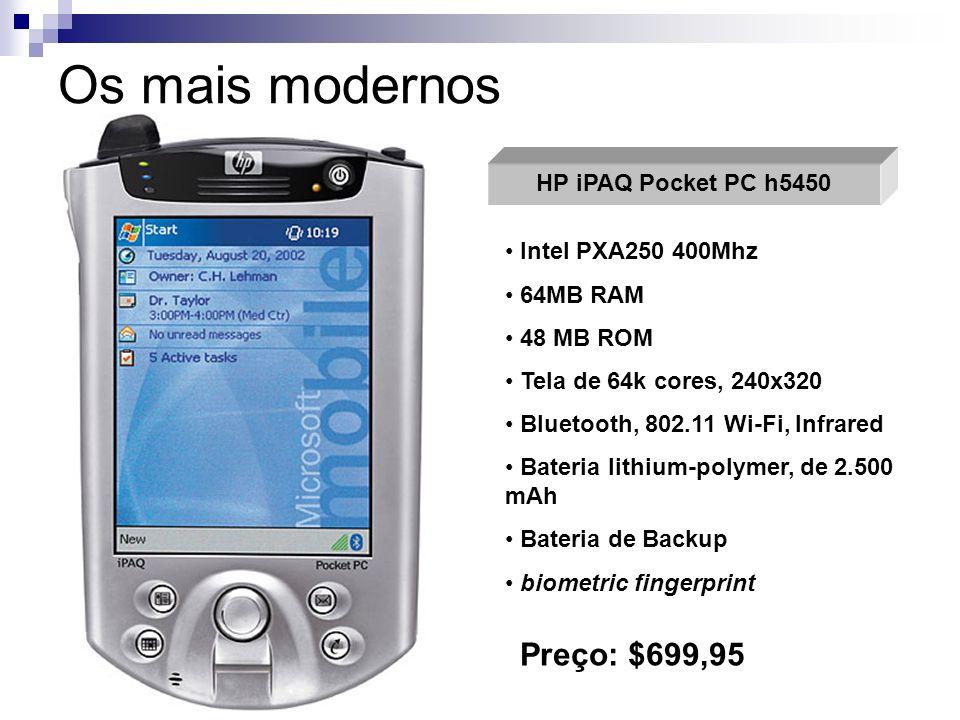 Os mais modernos Preço: $699,95 HP iPAQ Pocket PC h5450