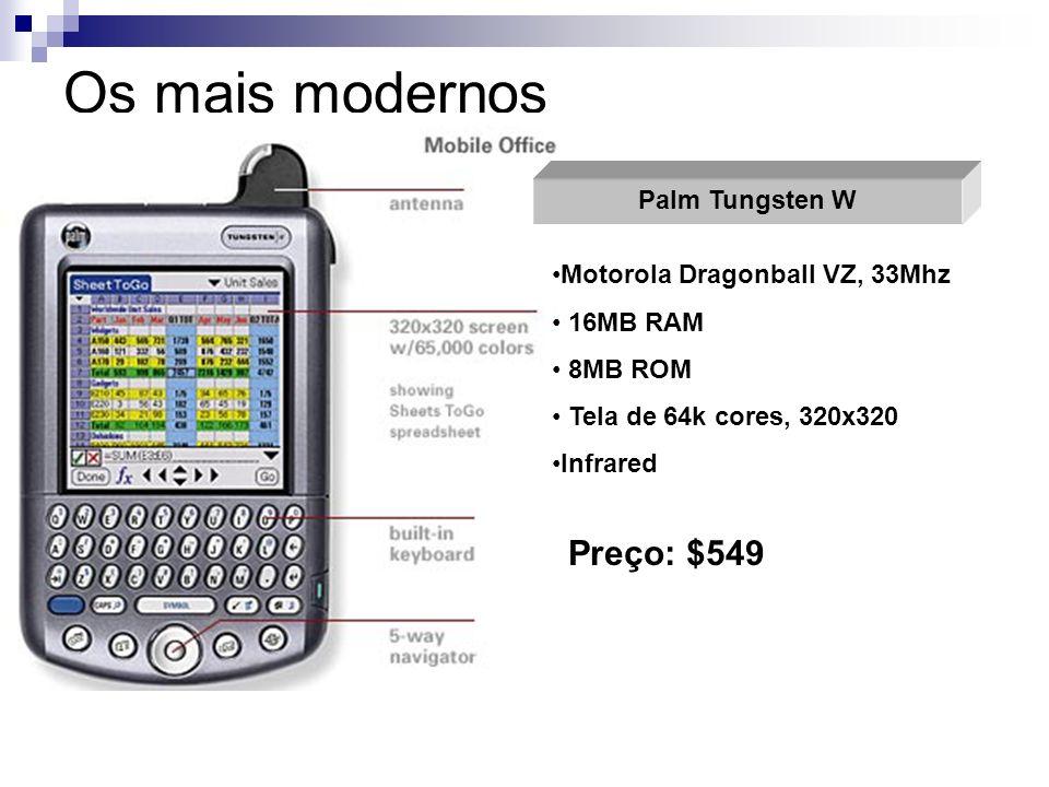 Os mais modernos Preço: $549 Palm Tungsten W