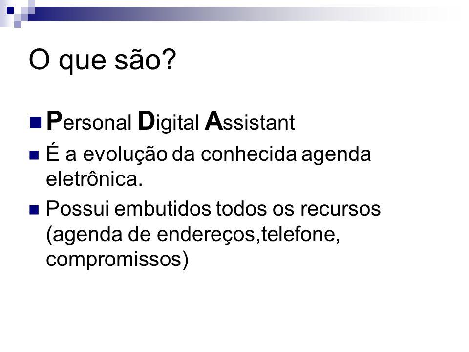 O que são Personal Digital Assistant