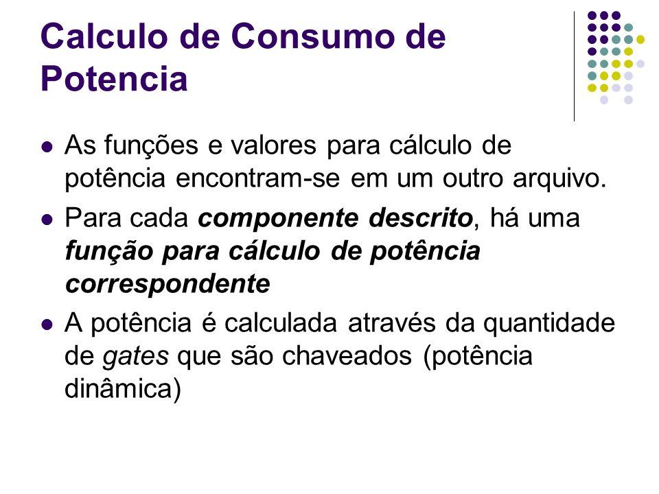 Calculo de Consumo de Potencia