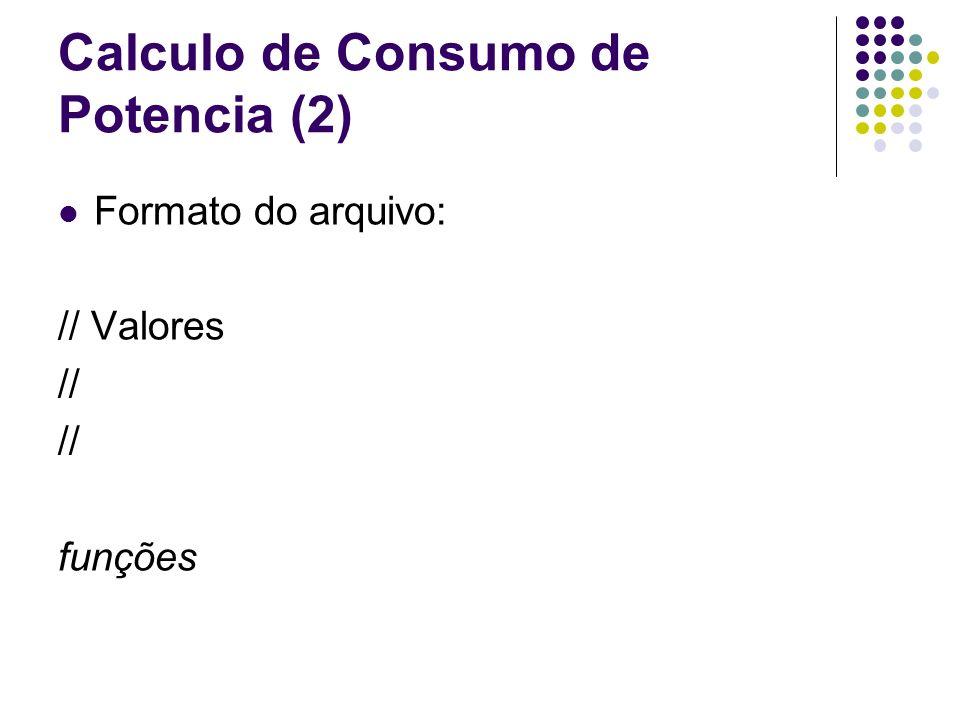 Calculo de Consumo de Potencia (2)