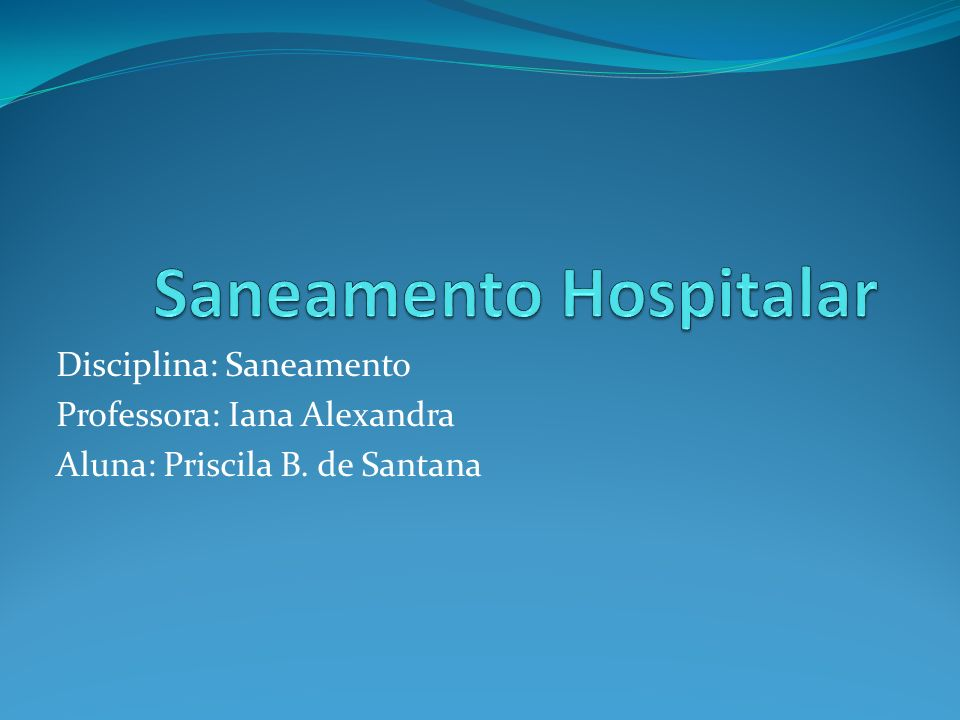 Saneamento Hospitalar