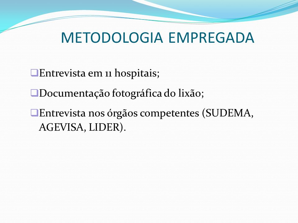 METODOLOGIA EMPREGADA