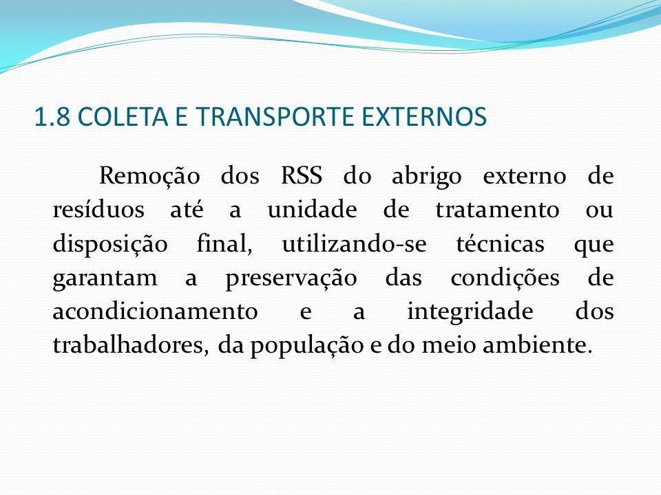 1.8 COLETA E TRANSPORTE EXTERNOS