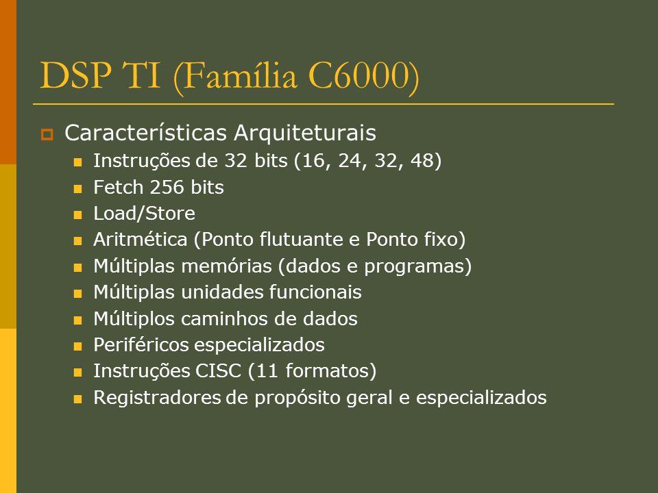 DSP TI (Família C6000) Características Arquiteturais