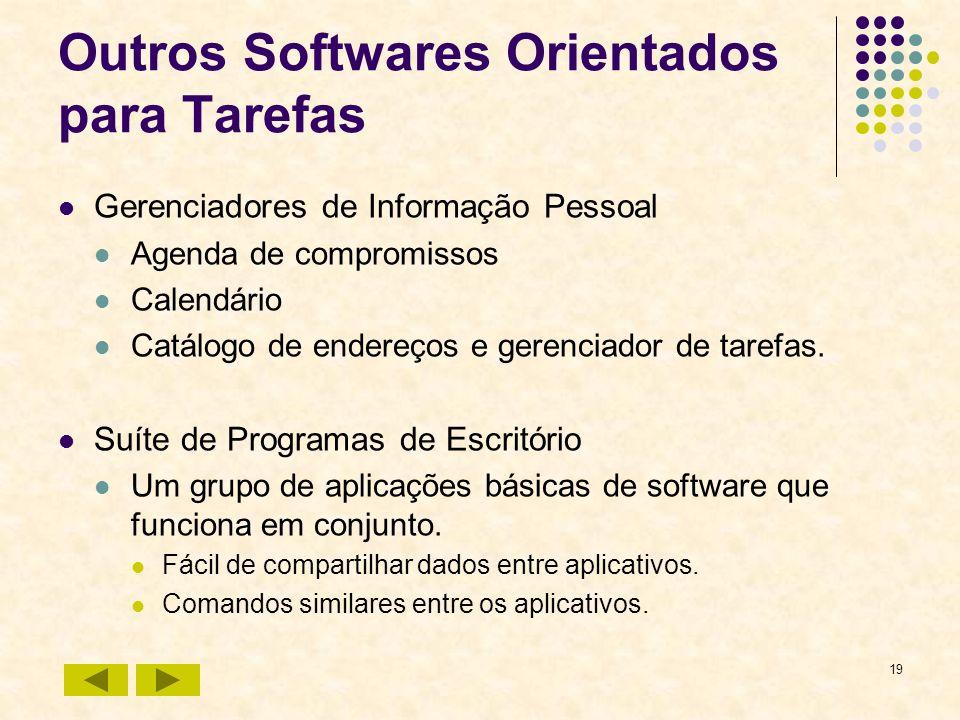 Outros Softwares Orientados para Tarefas
