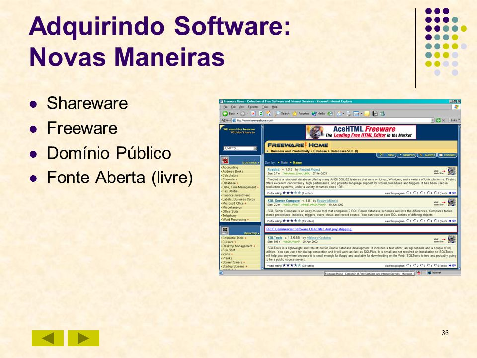 Adquirindo Software: Novas Maneiras
