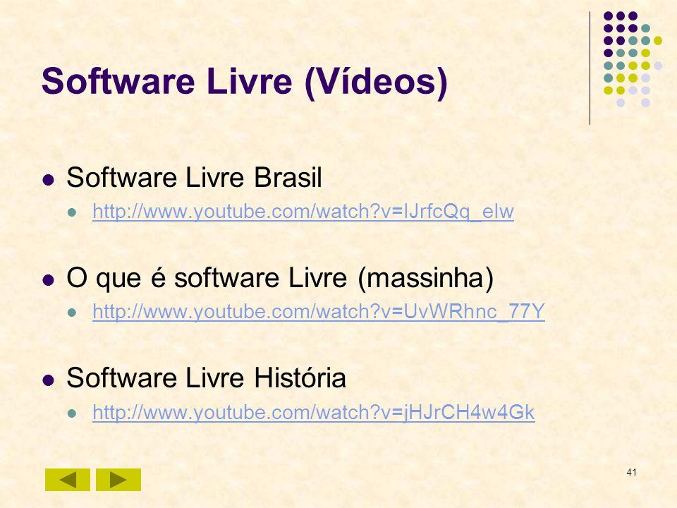 Software Livre (Vídeos)