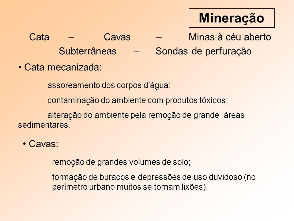 Mineração Cata – Cavas – Minas à céu aberto