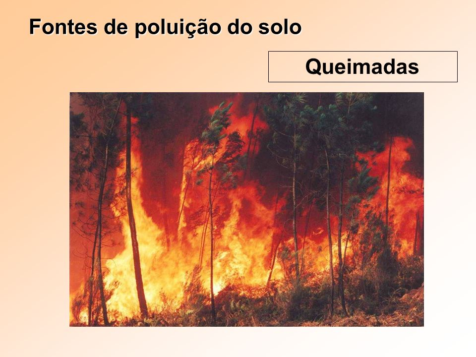 Fontes de poluição do solo