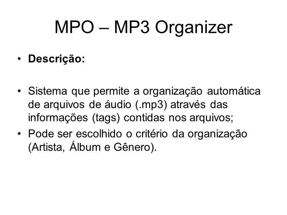 MPO – MP3 Organizer Descrição: