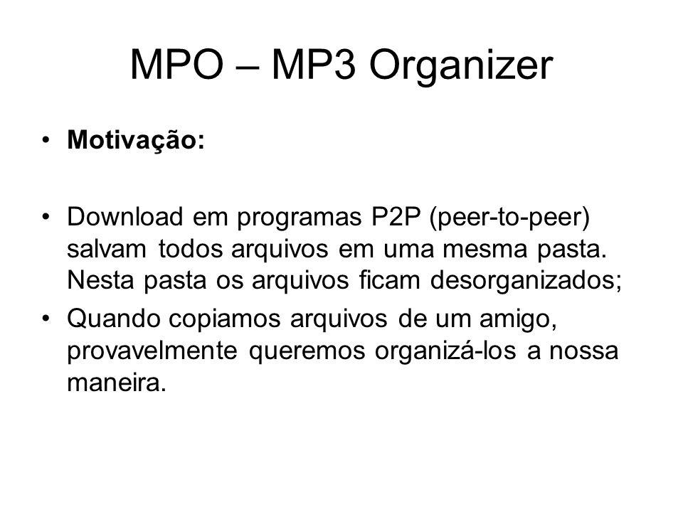 MPO – MP3 Organizer Motivação: