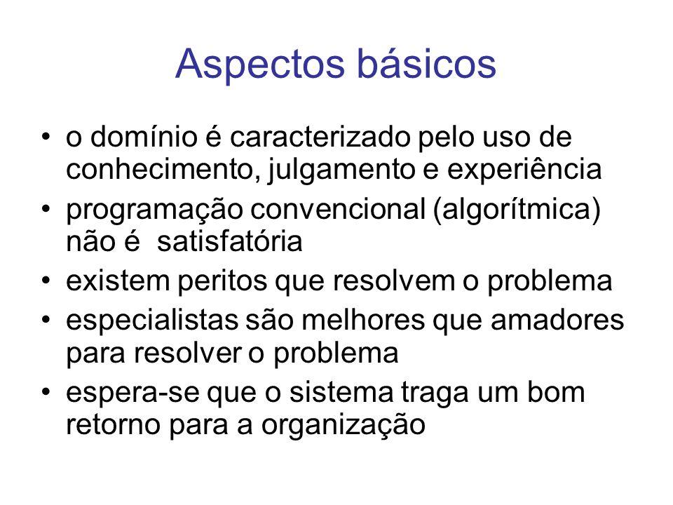 Aspectos básicoso domínio é caracterizado pelo uso de conhecimento, julgamento e experiência.