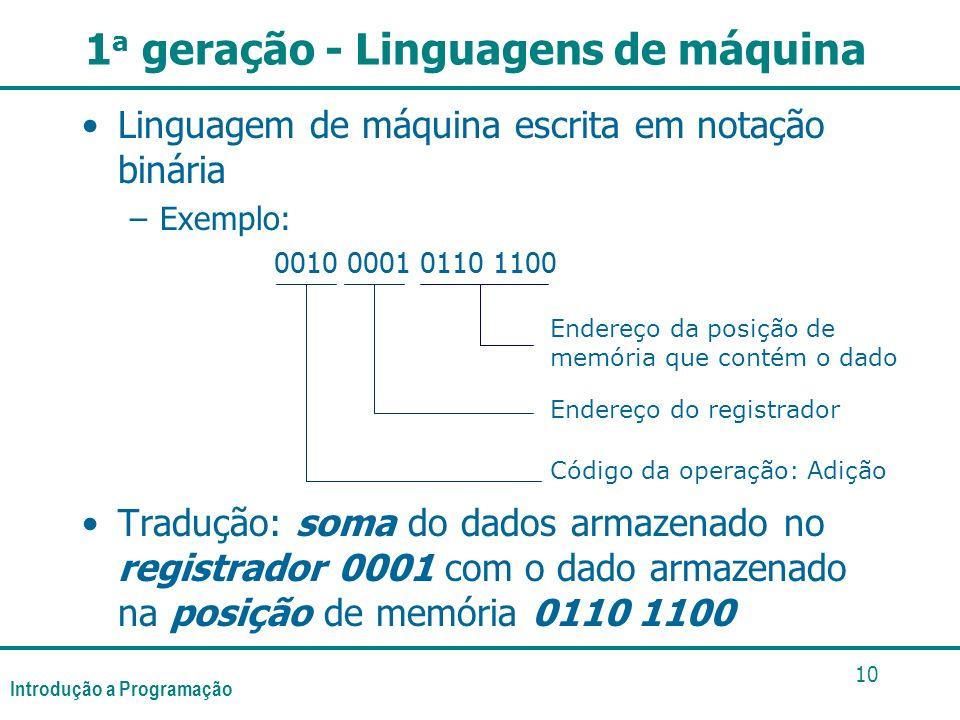 1a geração - Linguagens de máquina