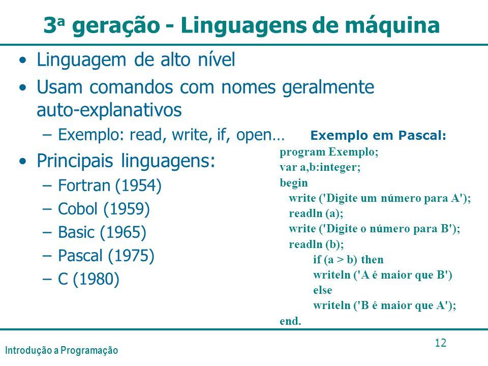3a geração - Linguagens de máquina