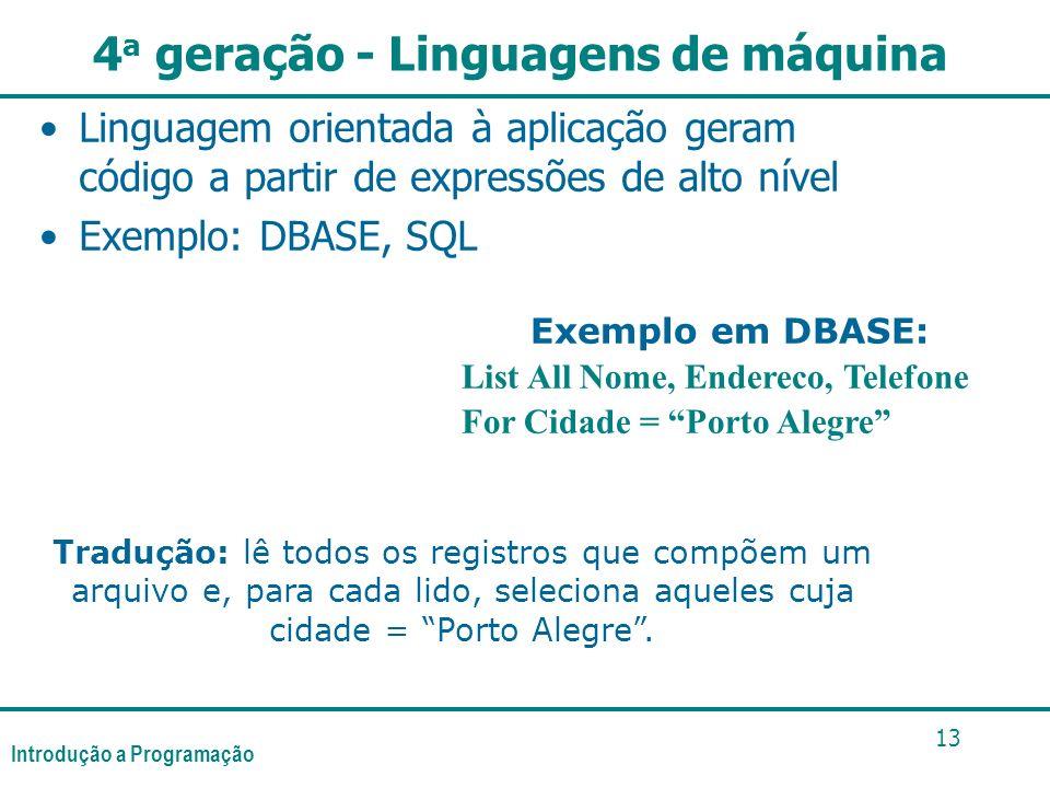 4a geração - Linguagens de máquina