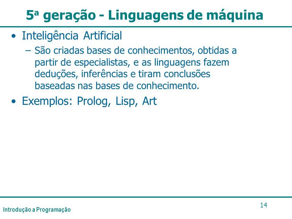 5a geração - Linguagens de máquina