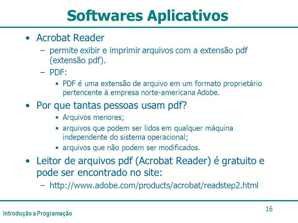 Softwares Aplicativos