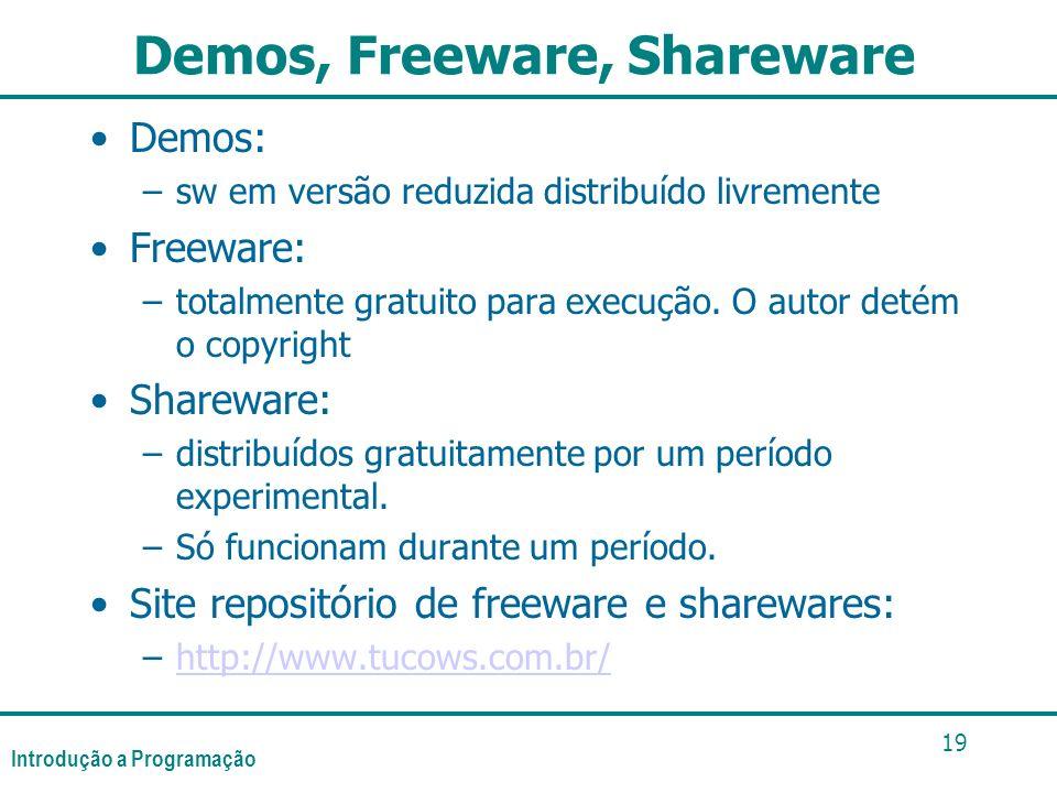 Demos, Freeware, Shareware
