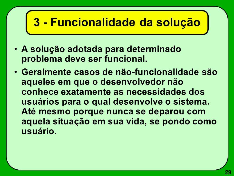 3 - Funcionalidade da solução