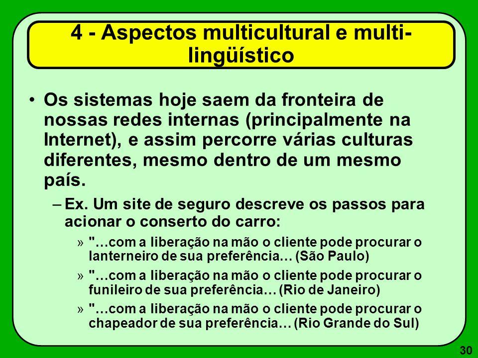 4 - Aspectos multicultural e multi-lingüístico