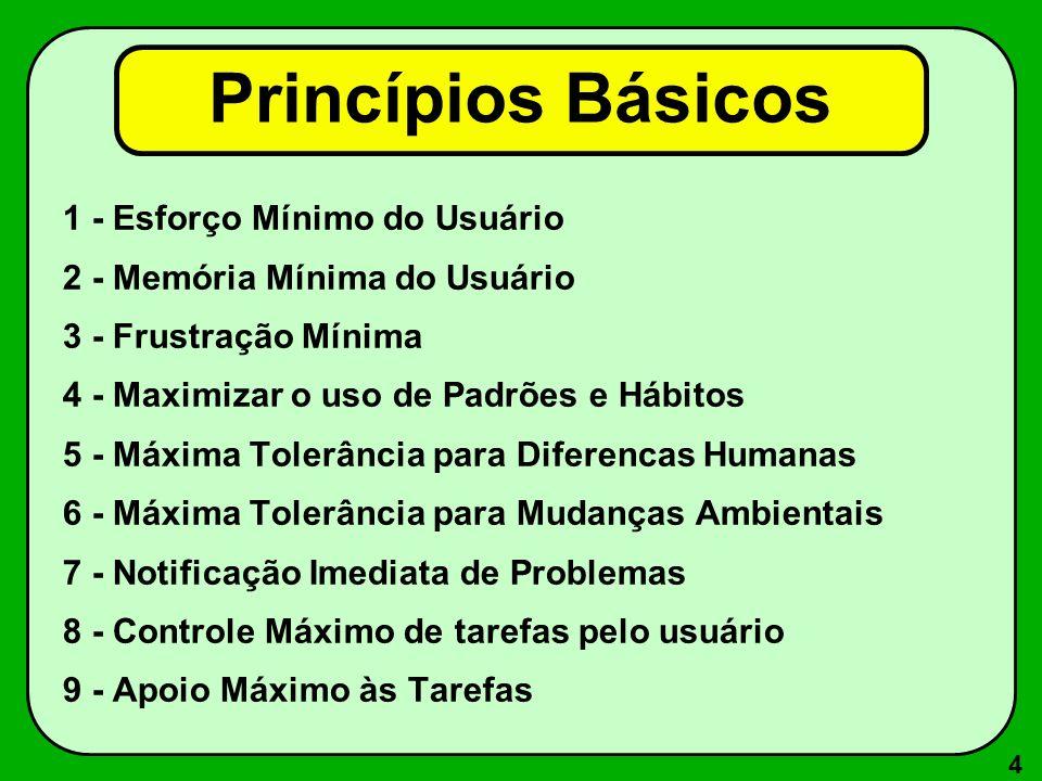 Princípios Básicos 1 - Esforço Mínimo do Usuário