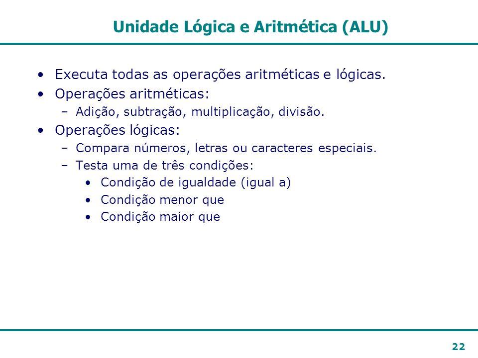 Unidade Lógica e Aritmética (ALU)