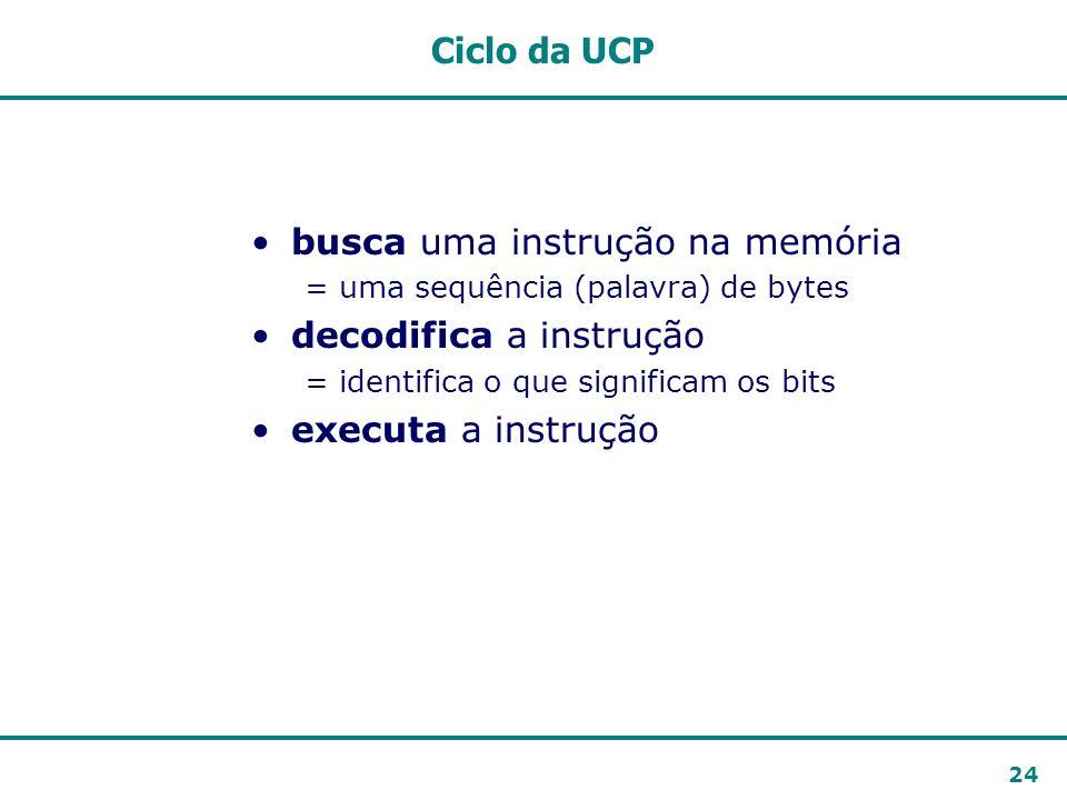 busca uma instrução na memória decodifica a instrução