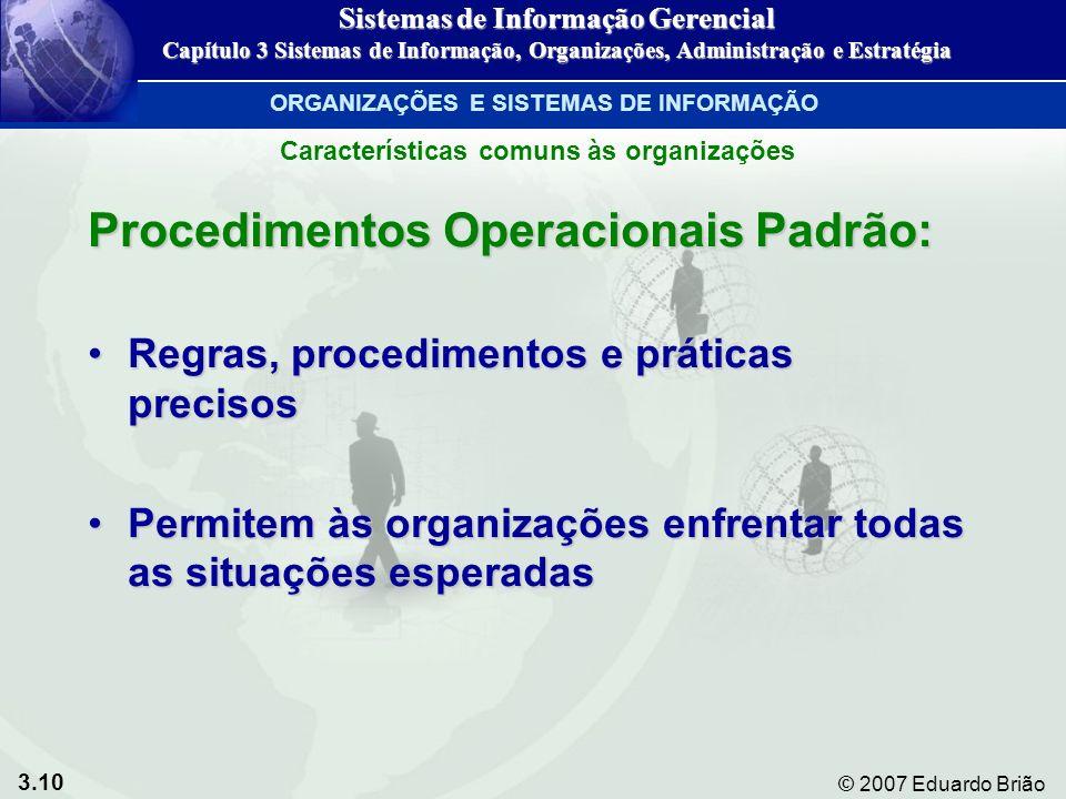 Procedimentos Operacionais Padrão: