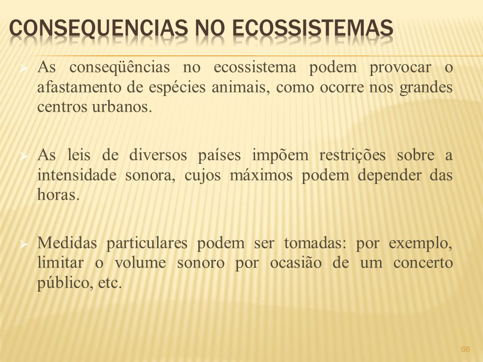 Consequencias no Ecossistemas