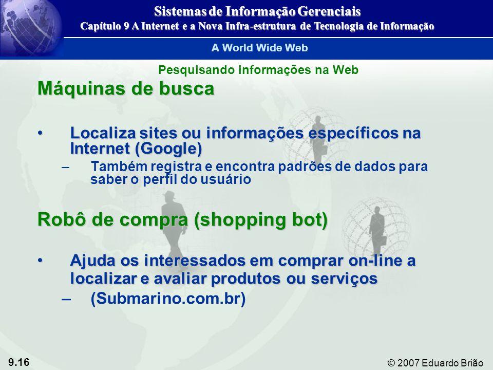 Sistemas de Informação Gerenciais Pesquisando informações na Web