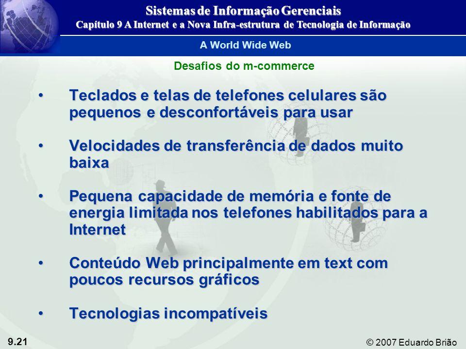 Sistemas de Informação Gerenciais Desafios do m-commerce