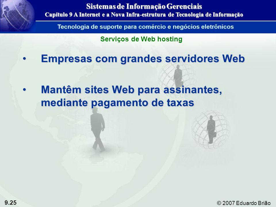 Empresas com grandes servidores Web
