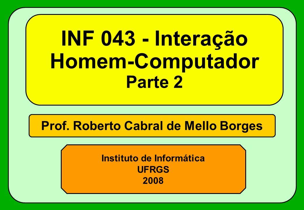 INF 043 - Interação Homem-Computador Parte 2