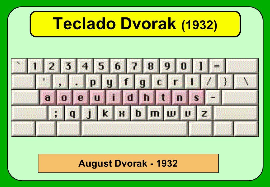 Teclado Dvorak (1932) August Dvorak - 1932