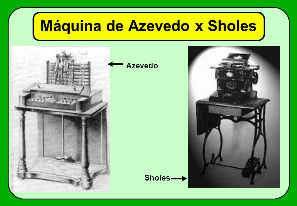 Máquina de Azevedo x Sholes