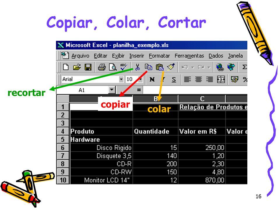 Copiar, Colar, Cortar recortar copiar colar