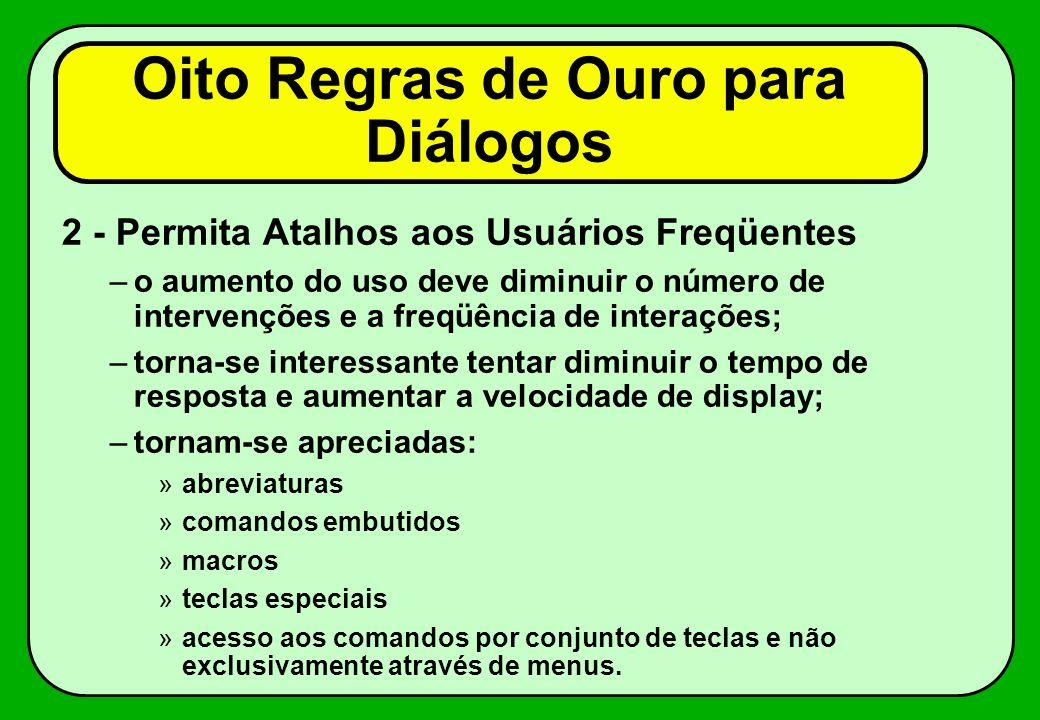 Oito Regras de Ouro para Diálogos