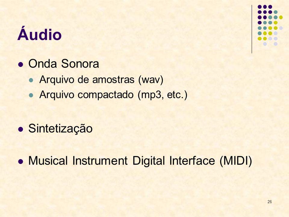 Áudio Onda Sonora Sintetização