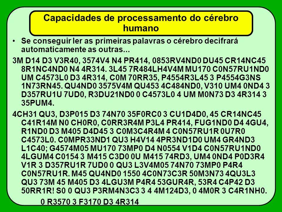 Capacidades de processamento do cérebro humano