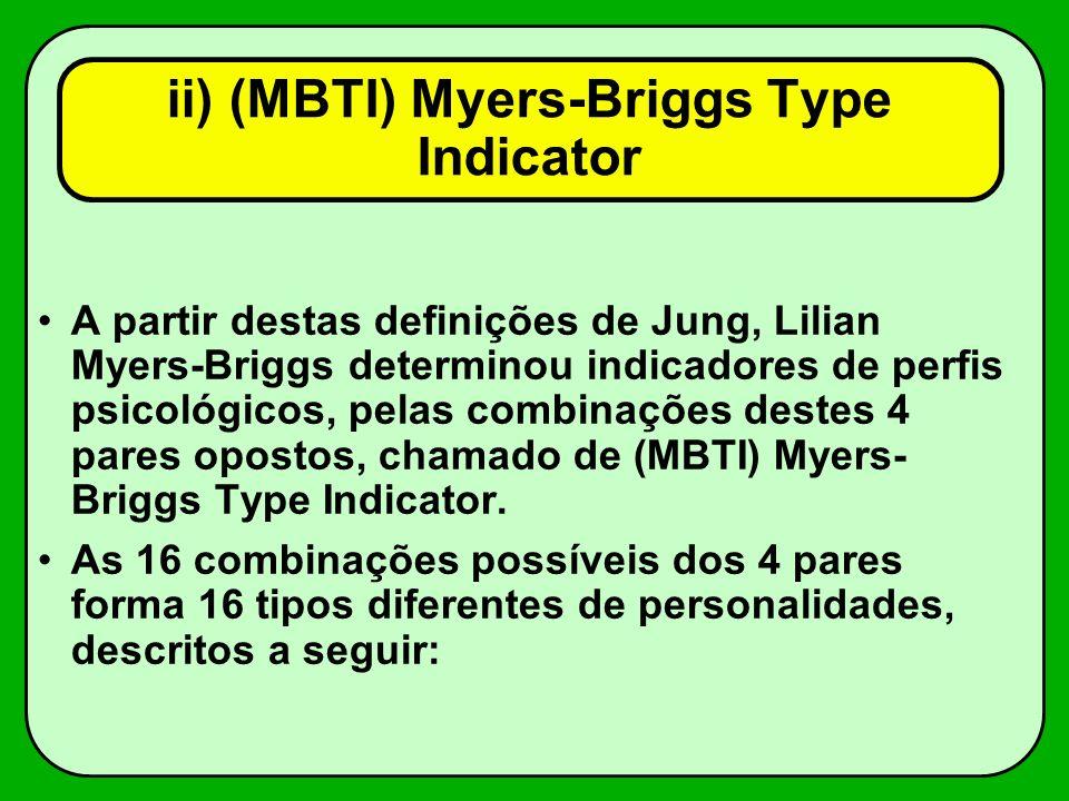 ii) (MBTI) Myers-Briggs Type Indicator