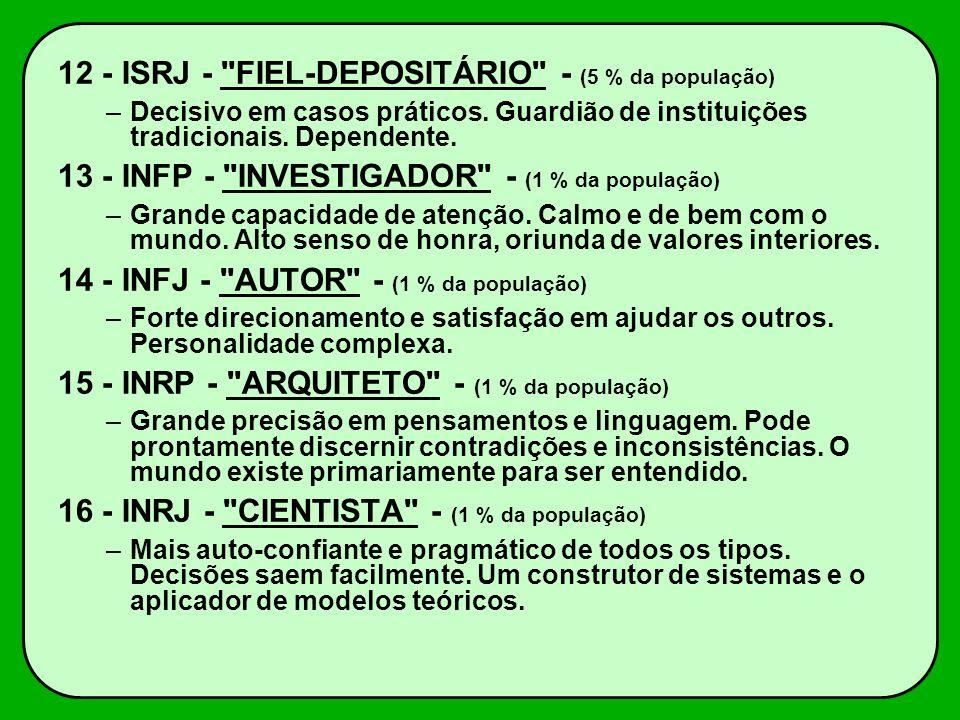 12 - ISRJ - FIEL-DEPOSITÁRIO - (5 % da população)