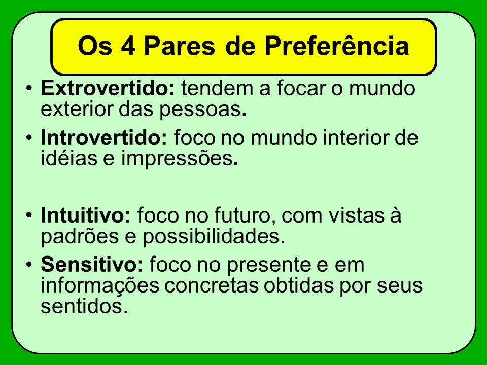 Os 4 Pares de Preferência